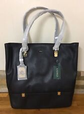 Ralph Lauren Black Leather Shoulder Bag Tote Shopper RRP £ 310