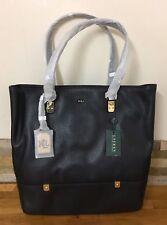 Ralph Lauren Black Leather Shoulder Bag Tote Shopper RRP £310
