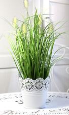 Kunstpflanze Künstliche Pflanze Gras Grasbüschel Kunstgras Dekogras + Blumentopf