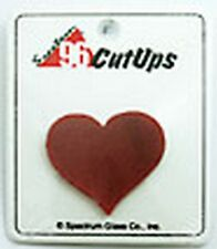 Stained Glass Supplies-Pre-Cut OPAQUE RED HEART (Free Shipping)