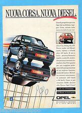 QUATTROR987-PUBBLICITA'/ADVERTISING-1987- OPEL CORSA
