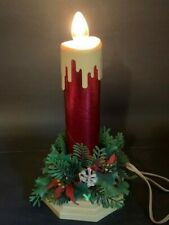 Vintage Red Foil Christmas Electric Candle 1950s