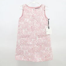 Victoria Beckham Girls Dress 4T NEW Jacquard Pink White Dressy Wedding