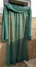 2 Piece Sheer Dark Green Curtain Panel Drape Set Includes 1 Panel and 1 Scarf