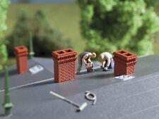 Auhagen 41627 Brick Chimney Assortment (Qty 8) Plastic Kit HO/OO  1st Class Post