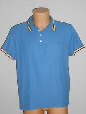 MC GREGOR Homme Polo Manches Courtes Shirt Taille L Bleu w2/39/r9
