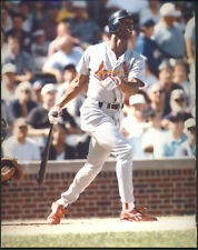 Willie McGee Batting St. Louis Cardinals 8x10 With Toploader