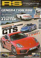 RS MAGAZINE 156 PORSCHE 997 TURBO CAB 981 BOXSTER GTS CAYMAN GTS FILM LE MANS
