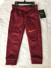 d4d88b049c35fc Nike little boys THERMA Fleece Jogger Pants size 4 Team Red NWT