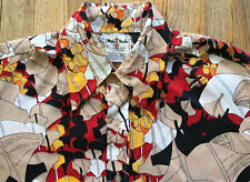 VTG 1960s Male Duds Abstract Psychedelic Floral Design Button Front Shirt, X Lrg