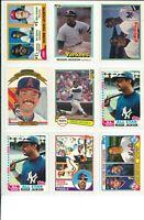 Lot of (61) Reggie Jackson Vintage Baseball Cards - MLB Yankees Angels HOF