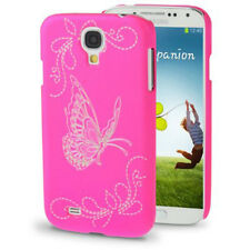 HardCase Butterfly für Samsung i9500 Galaxy S4 in pink Etui Hülle Case Cover