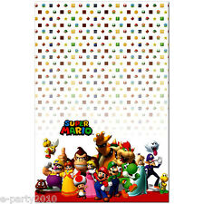 SUPER MARIO PLASTIC TABLE COVER ~ Video Game Birthday Party Supplies Decorations