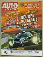 LE MANS 24 HOUR ENDURANCE CAR RACE 2002 Official Programme