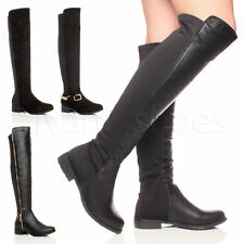 Over Knee Pull On Synthetic Boots for Women
