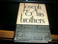 JOSEPH AND HIS BROTHERS Thomas Mann HC Book 1934 & DJ, VG Knopf 1st ED 1st Print