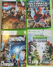 Set Of 4  Xbox 360 Video Games Lego The lord of The Ring Plants VS Zombies Marve