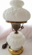 Fenton White Satin Gone With The Wind Student Parlor Poppy Lamp FREE US SHIP