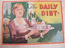 Alka-Seltzer: The Daily Diet Promotional Antique Advertisement Booklet 1920's