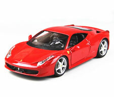 Bburago 1:24 Ferrari 458 Italia Diecast Metal Model Roadster Car Red New in box
