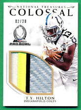 2016 National Treasures #27 T.Y. HILTON COLOSSAL PATCH Colts 02/20 - X718