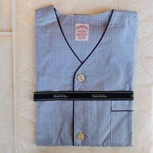 Brooks Brothers Men's Broadcloth Checked Short Pyjamas, Small