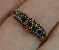 Victorian Acrostic DEAREST Gemstone 15ct Gold Stack Eternity Ring D0342