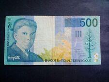 BELGIUM 500 FRANCS BANKNOTES