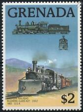 1903 DENVER & RIO GRANDE MUDHENS Class K27 2-8-2 Train Stamp (1989 Grenada)