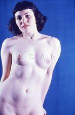 Org Vintage Nude 50s-60s 35mm Slide / Negative- Well Endowed- Dark Haired Woman