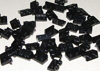 LEGO LOT OF 50 NEW INVERTED BLACK BRACKET 1 x 2 - 1 x 2  PIECES PARTS