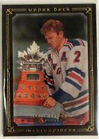 2008-09 Brain Leetch Upper Deck Masterpieces Brown Framed #49 New York Rangers