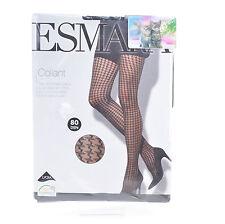 COLLANT Femme LYCRA NOIR 80 Deniers 46 48 PIED DE COQ ESMERA ZAZA2CATS