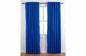"ColourMatch Lima Unlined Eyelet Curtains 116 x 137cm 46"" x 54"" Marine B-Grade"