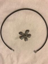 N1128 & S1101 Retired! Silpada Flower Pendant And Necklace