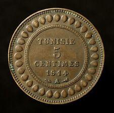 Tunesien, Muhammad al-Nasir Bey, 5 Centimes 1914 A