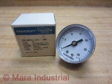 "Ashcroft 20W1005SH 01B Pressure Gauge 30PSI 1/8"" NPT Back (Pack of 3)"
