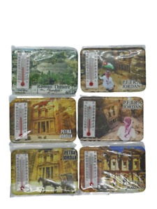 Vintage 6Pcs Jordan Petra Roman Theatre Jerash Fridge Magnet Temperature Weather