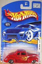 2002 Hot Wheels #024 First Editions 12/42 '40 FORD COUPE Red w/5 Spokes Wheels