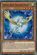 Yugioh 3x LED2-EN042 Crystal Beast Sapphire Pegasus Common 1st Ed