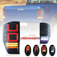 Pair Smoke LED Tail Light Rear Lamp w Sequential Indicator For 12-18 Ford Ranger