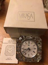 Mikasa Crystal Westminster Clock Quartz Austria Battery Operated T8201:75 New B1