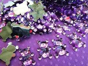 110 Baby Bear Rhinestone Acrylic Jewel Craft/boy shower/decoration/bow E30