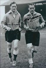 Tom FINNEY & Nat LOFTHOUSE SIGNED Autograph England Legends 12x8 Photo AFTAL COA