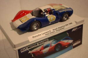 QQ 99109 fly Porsche Carrera 6 Road America 500 66 #23 Revson Lted Ed H+T