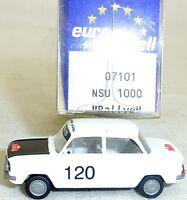 NSU 1000 Prinz TTS Rallye Monte-Carlo IMU/EUROMODELL 07101 H0 1/87 OVP# GB 5   å