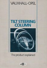 Vauxhall Opel Tilt Steering Column 'The Product Explained' 1984-85 UK Brochure