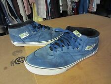 VANS blue suede leather HALF CAB pro classics skate board SHOES mens sz 13 used