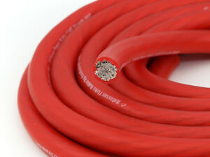 KnuKonceptz Kolossus Flex 4 Gauge Red OFC Power Wire Copper Battery Cable 10ft