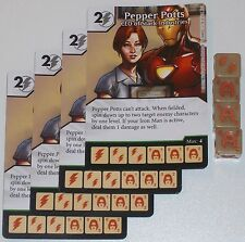 4 X PEPPER POTS CEO OF STARK INDUSTRIES 94/142 Age Of Ultron Dice Masters